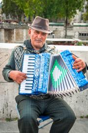 Music Man - Paris by Pont des Arts 2014